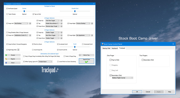Trackpad++ Driver: alternate Windows driver with multi-touch